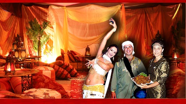 Harem night arabian nights theme party ideas bedouin for Arab decoration ideas